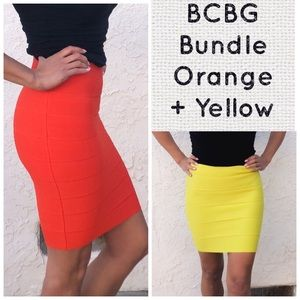 BCBG bandage skirt bundle 2 skirts!